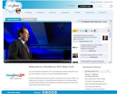 Cloudforce 2011 Live Web Stream