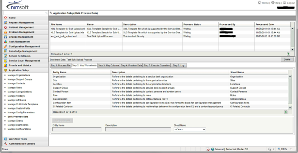 Nimsoft Servicedesk Bulk Upload Steps